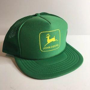 John Deere Trucker Hat USA Made Mesh Farm Seed EUC